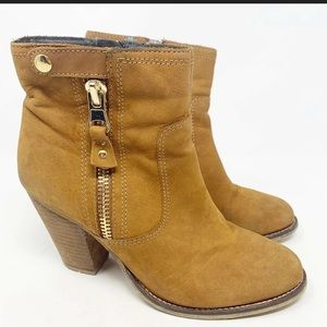 Aldo heeled leather ankle booties